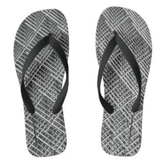 HAMbyWG - Mens Flip-Flops - Metal Grid Design Thongs