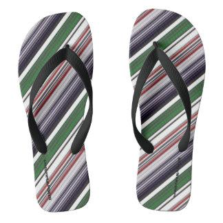HAMbyWG - Mens Flip-Flops - Mixed Stripes Aston Thongs