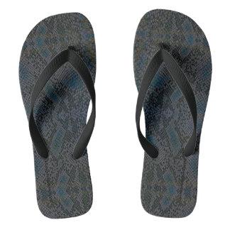 HAMbyWG - Mens Flip-Flops  Snake - Blue Thongs
