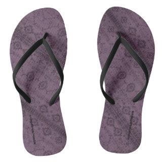 HAMbyWG - Mens Flip-Flops  Snake - Plum Boho Thongs
