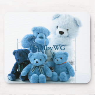 HAMbyWG - mouse Pad - Blue Teddy Bears