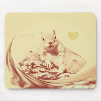 HAMbyWG - Mouse Pad - Ham Squirrel Faded w/Heart
