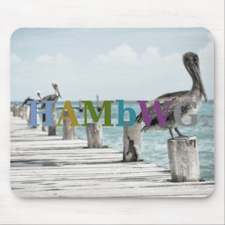 HAMbyWG - Mouse Pad - Pelicans on Dock