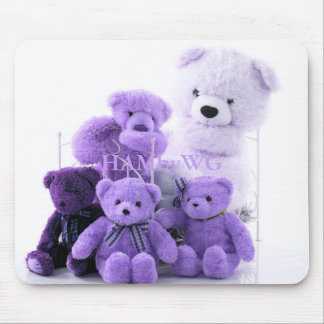 HAMbyWG - Mouse Pads - Purple Teddy Bears