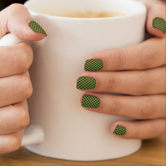 HAMbyWG - Nail Decals - Green  Checker