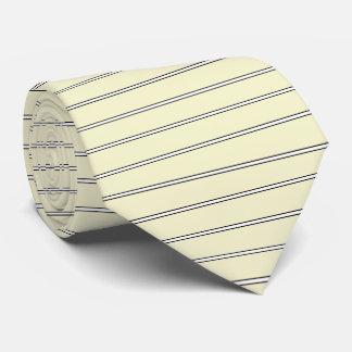 HAMbyWG - Necktie - Pale Yellow White/Blk Horizon