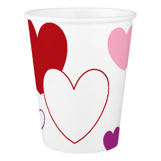 HAMbyWG - Paper Cup - Pink Hearts -Personalize it!