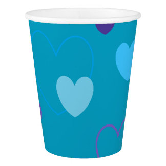 HAMbyWG - Paper Cup - Purple & Blue Hearts
