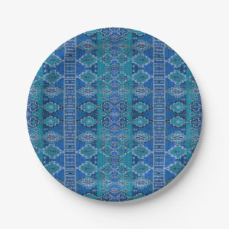 HAMbyWG - Paper Plate - Bright Blue Indian Print