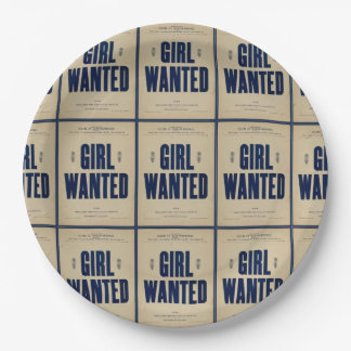 HAMbyWG - Paper Plate - Girl Wanted 9 Inch Paper Plate