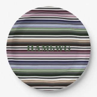 HAMbyWG - Paper Plate - Goth Stripe