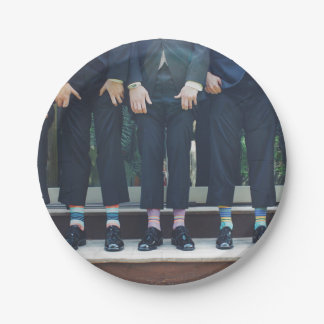 HAMbyWG - Paper Plate - Men in Socks 7 Inch Paper Plate