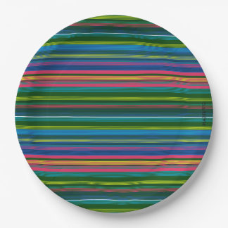 HAMbyWG - Paper Plate - Multi- Color Stripe