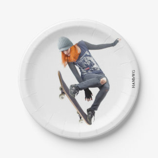 HAMbyWG - Paper Plate - Skateboarder