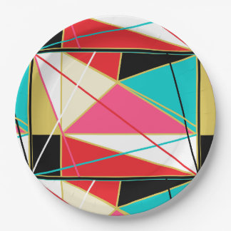 HAMbyWG - Paper Plate - Tangled Web Abstract