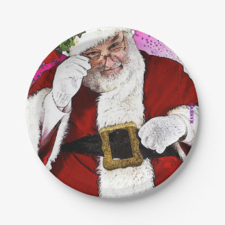 "HAMbyWG - Paper Plates 7"" - Santa Claus"