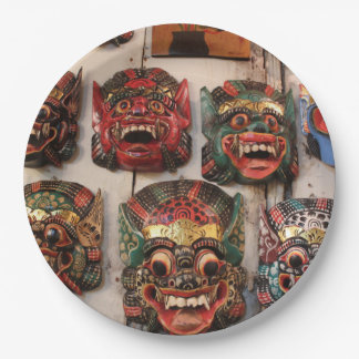 "HAMbyWG - Paper Plates 9"" - Crazy Masks 9 Inch Paper Plate"