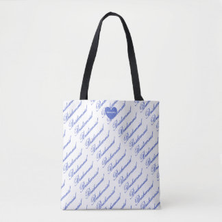 HAMbyWG - Periwinkle Bridesmaid Tote Bag