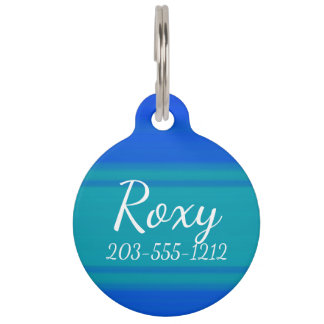 HAMbyWG - Pet Name Tag - Cool/Cool Blue