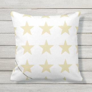 HAMbyWG - Pillow   - Beige Stars on white