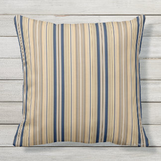 HAMbyWG - Pillow - Gold Sapphire Stripes