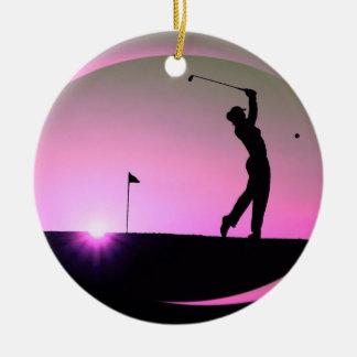 HAMbyWG  - Pink - Golfer Ceramic Ornament