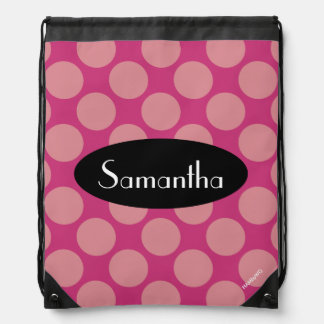 HAMbyWG - Polka Dots Drawstring Bag