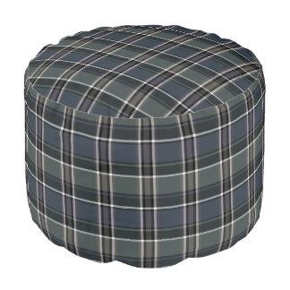 HAMbyWG - Pouf Chair  -  Blue-Grey Plaid