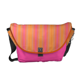 HAMbyWG Rickshaw Messenger Bag - Pink/Orange