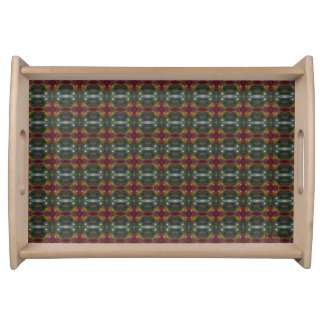 HAMbyWG - Serving Tray - Burgundy/Teal/Yellow