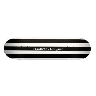 HAMbyWG - Skateboard - Black White Wide Stripe