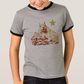 HAMbyWG - T-Shirts - Faded Squirrel Lime Star