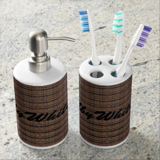 HAMbyWG - TB Holder n Soap Dispenser - Brown