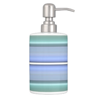 HAMbyWG TB  n Soap Dispenser- Mint & Periwinkle Bathroom Set