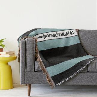 HAMbyWG - Throw Blanket Black & Seafoam