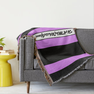 HAMbyWG - Throw Blanket Black & Violet