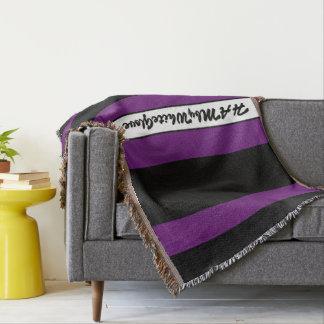 HAMbyWG - Throw Blanket Black & Violet Purple