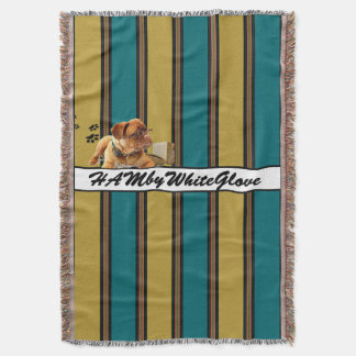 HAMbyWG - Throw Blanket - Light Blue & Aqua Stripe