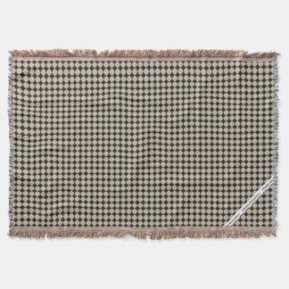 HAMbyWG - Throw Blanket  Modern Beige & Black Dots