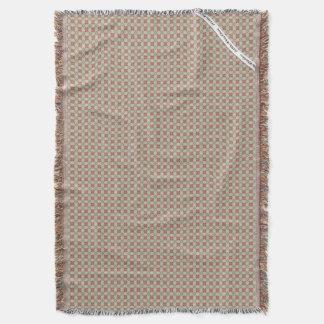HAMbyWG - Throw Blanket  Modern Beige Red Green