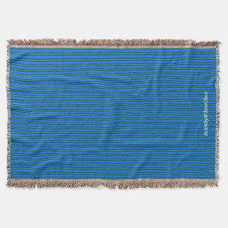 HAMbyWG - Throw Blanket - Ocean Blue & Green