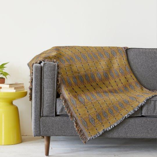 HAMbyWG - Throw Blanket Tribal Look - Yellow