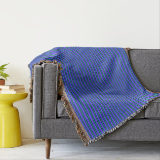 HAMbyWG - Throw Blanket - Ultra Violet & Aqua Gree