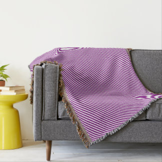 HAMbyWG - Throw Blanket - Violet & White Diagonal