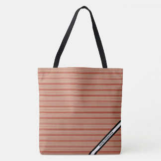 HAMbyWG - Tote Bag -Orange Red Horizontal Stripe