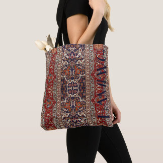 HAMbyWG - Tote Bag  - Persian Red, Blue, Beige