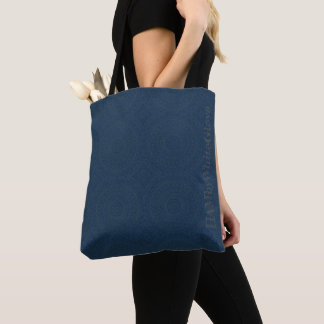 HAMbyWG - Tote Bags - Boho Ink Indigo l& Gray