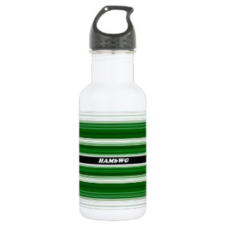 HAMbyWG - Water Bottle - Green & White
