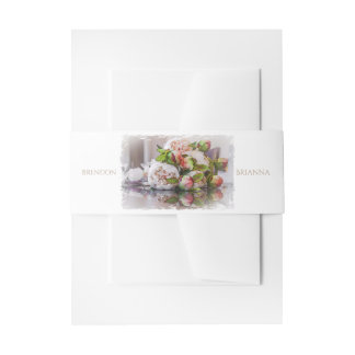HAMbyWG - Wedding Invitation/Envelope - Peony Invitation Belly Band