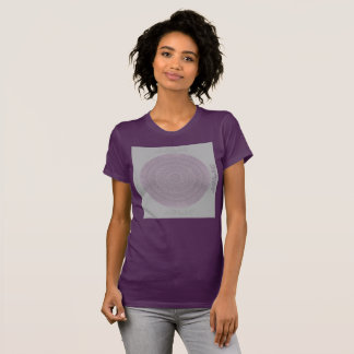 HAMbyWG - Womens  Boho Circle in Plum/Gray T-Shirt